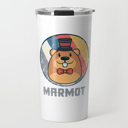 Vintage Cute Wildlife Marmot Colorful Retro Animals Travel Mug