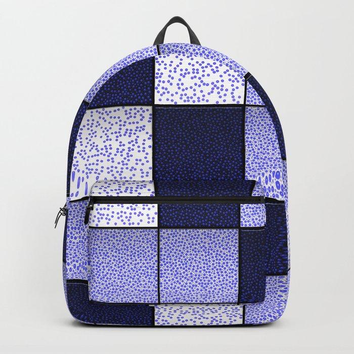 Blue Spotty Tiles Backpack
