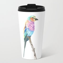 Lilac Breasted Roller - Colored Pencil Travel Mug