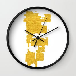 Gold Abstract VI Wall Clock