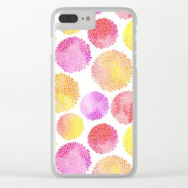 Yellow Red Purple Fireworks Clear iPhone Case