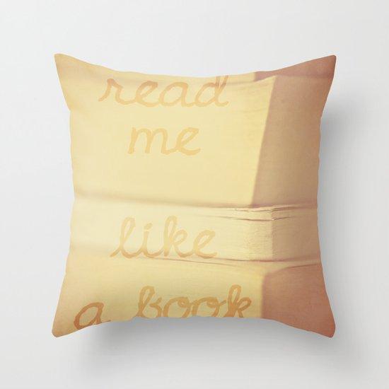Read Me Throw Pillow