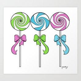 Lollipop Trio Art Print