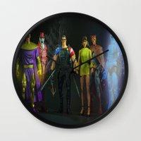"watchmen Wall Clocks featuring ""WATCHMEN"" by TJAguilar Photos"