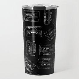 Audio Tape Pattern Travel Mug