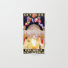 Seville Hispano American Expo 1929 art deco ad Hand & Bath Towel