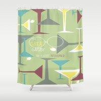 gatsby Shower Curtains featuring Gatsby by Jennifer Epstein