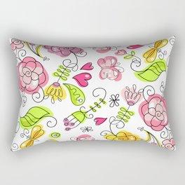 Watercolor Garden Rectangular Pillow
