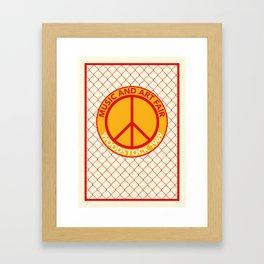WOODSTOCK MUSIC AND ART FAIR 1969 Framed Art Print