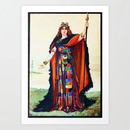 Boadicea Celtic Chieftainess Art Print