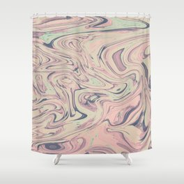 Flurry Marble Shower Curtain