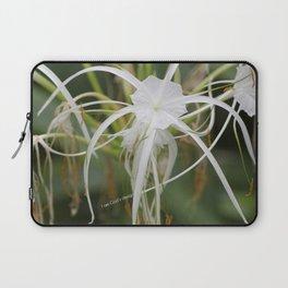 God's design white flower Laptop Sleeve