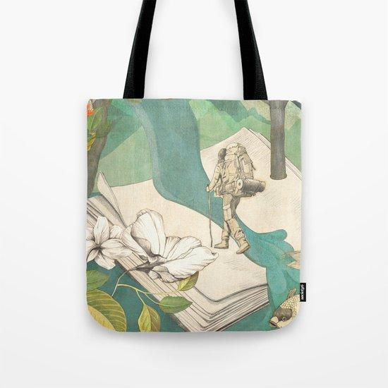 Nature Writing Tote Bag