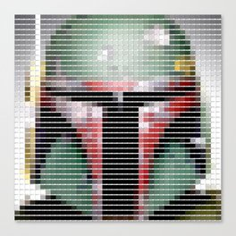 Boba Fett - StarWars - Pantone Swatch Art Canvas Print