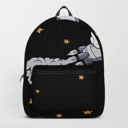 Astronaut On The Way To The Moon Gift Motif Backpack