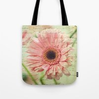 shabby chic Tote Bags featuring Shabby Chic by whimsy canvas