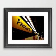 Barcelona Metro Framed Art Print