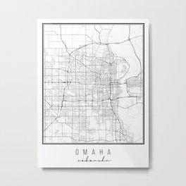 Omaha Nebraska Street Map Metal Print