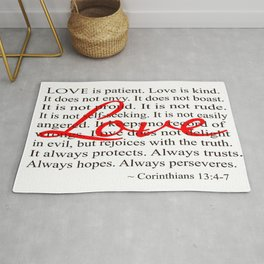 Love is Patient, Love is Kind. Rug