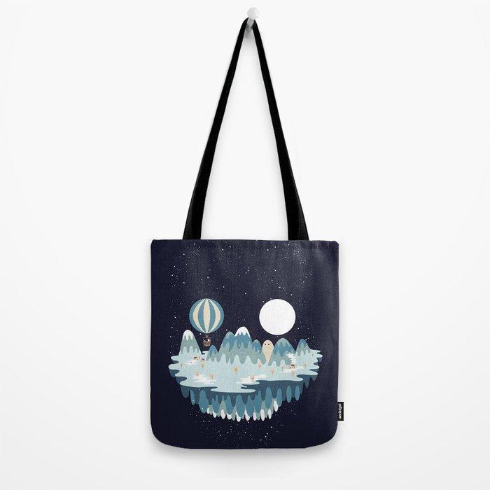 Winter skull Tote Bag