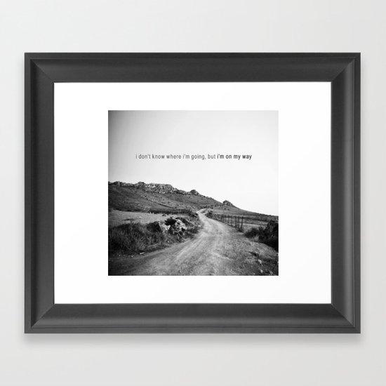 perdu ? Framed Art Print