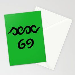 Funny sex 69 ambigram Stationery Cards