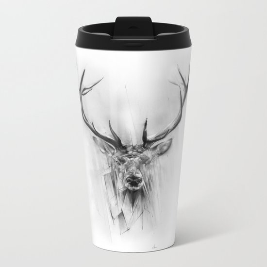 Red Deer Metal Travel Mug