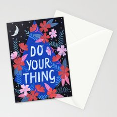 Do Your Thing - Blue Stationery Cards