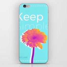 Keep Simple Flower iPhone Skin