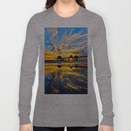 Sunset ~ Huntington Beach Pier CA  11/7/13 Long Sleeve T-shirt