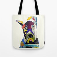 great dane Tote Bags featuring Wally the great dane by bri.buckley