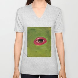 abstract eye Unisex V-Neck