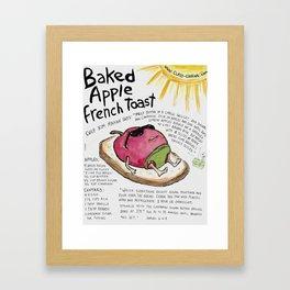 Baked Apple French Toast Framed Art Print