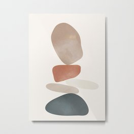 Balancing Stones 25 Metal Print