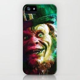 The Leprechaun comic book cover featuring Warwick Davis classic horror! iPhone Case