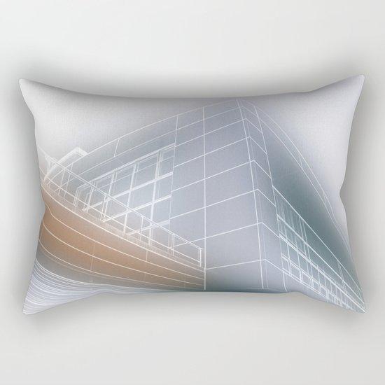 Minimalist architect drawing Rectangular Pillow
