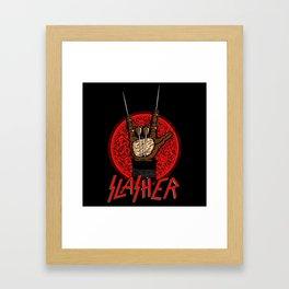 Slasher movie Framed Art Print