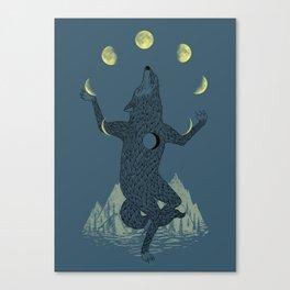Moon Juggler Canvas Print