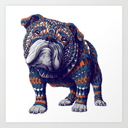 English Bulldog (Color Version) Art Print
