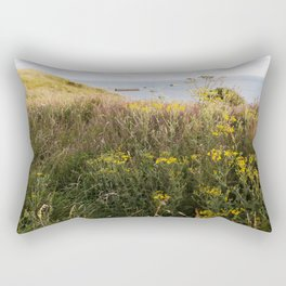 A Lone Reed at Mulberry Harbour Rectangular Pillow