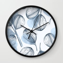 Round Leaves 8 Wall Clock