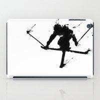 ski iPad Cases featuring Ski jumper  by Richard Eijkenbroek