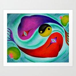 Yin and Yang Art Print