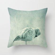 Flamingo Blues Throw Pillow