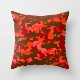 Camouflage (Red) Throw Pillow
