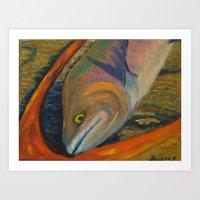 trout Art Prints featuring Trout by JSwartzArt