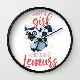 Lemur Girl Wall Clock