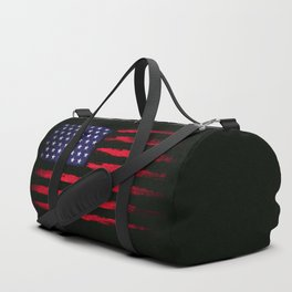 Vintage American flag on black Duffle Bag
