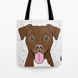 Chocolate Pitbull Tote Bag