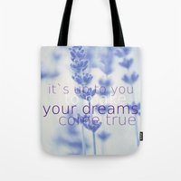 lavender Tote Bags featuring Lavender  by SUNLIGHT STUDIOS  Monika Strigel